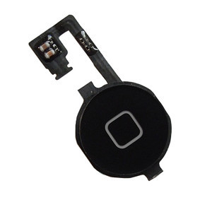Replacement Repair Parts Home Menu Button Flex Cable with Key Cap For iPhone 4 4G Black(China (Mainland))