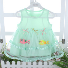 Baby  Girls Dresses   The Lolita Style Dress for babies 2015 hot sale lovely casual baby dress baby clothes(China (Mainland))