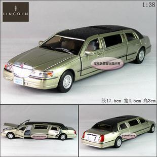New Lincoln 1999 Town Car 1:38 Alloy Diecast Model Car With Box Champagne B313