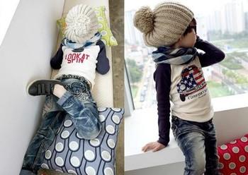 Девочки мальчики tshirt дети одежда дети дети одежда младенцы костюм младенцы футболки ...