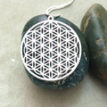 Flower of life pendant to the window Silver plated necklaces pendants for women pendant lot Black