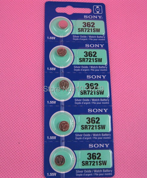 Free shipping!5Pcs/Lot For SONY 362 SR721SW for swatch watch battery button coin cell computer(China (Mainland))