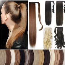 """26"""" Long Ponytail Clip In Pony Tail Hair Extension Extensions Wrap on Hair Piece Straight Style 100% Top Quality Free Shipping(China (Mainland))"""