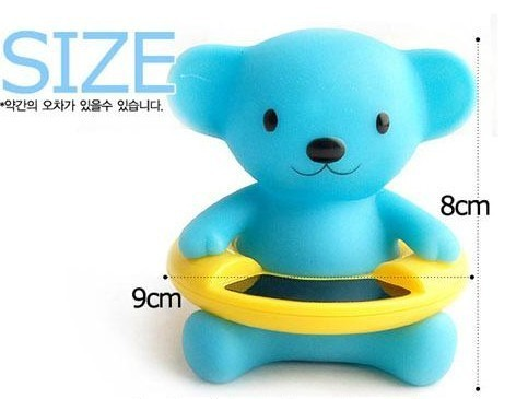 5pcs/lot Free shippiing Baby Gift Cute Bear Bath Tub Baby Infant Thermometer Water Temperature Tester