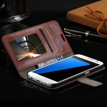 FLOVEME S7Case Luxury Retro Leather Wallet Flip Cover Case For Samsung Galaxy S7 Photo Frame Stand For Samsung S7 Case(China (Mainland))