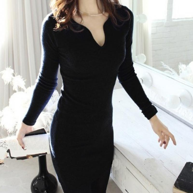 Vestidos 2016 Spring New Fashion Women Summer Dress Sexy slim long sleeve hip cover dress Solid Office Work Dress(China (Mainland))