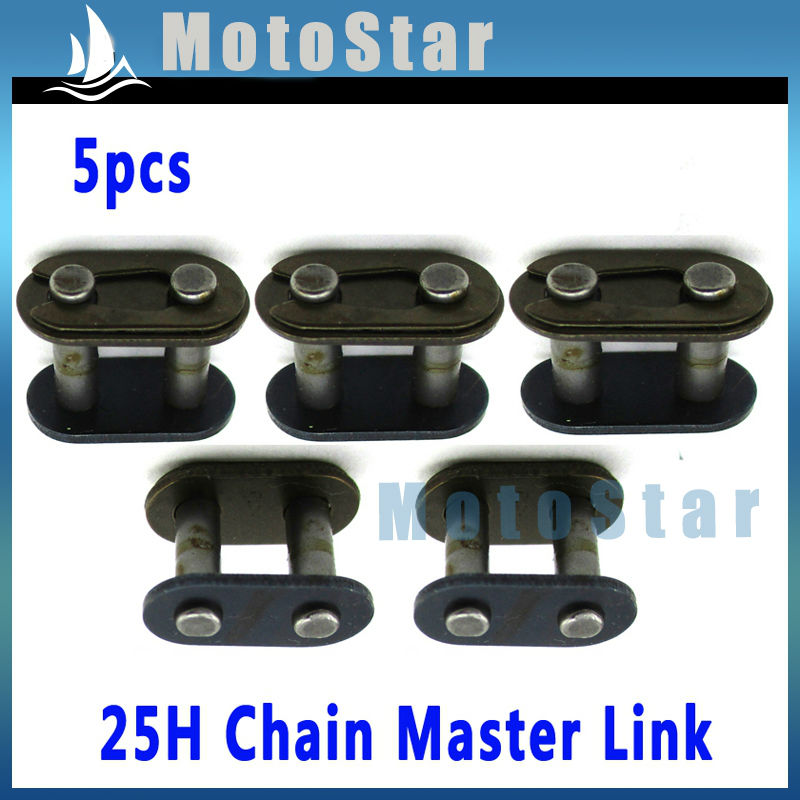 5pcs T8F Chain Spare Master Link For 2 Stroke 43cc 47cc 49cc Dirt Super Motorcycle Mini ATV Quad 4 Wheeler Pocket Bike(China (Mainland))