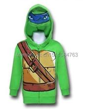 COOL!teenage mutant ninja turtles/ batman boys mask hoodie tmnt boy zip coat christmas wear jacket spring autumn 3-6Y(China (Mainland))