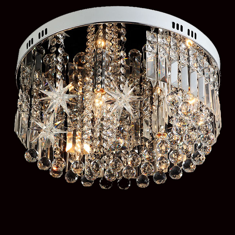 Moon and stars crystal lamp living room lights modern crystal ceiling lamp brief individuality ceiling light energy-saving lamp