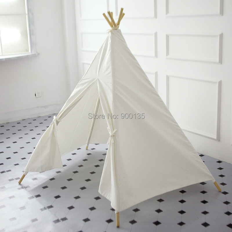 Buy white five poles cotton canvas teepee for Reliable tipi