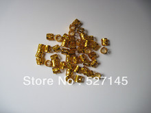 100Pcs/Lot Golden Plated Hair Dreadlock Bead Cuff Clip(China (Mainland))