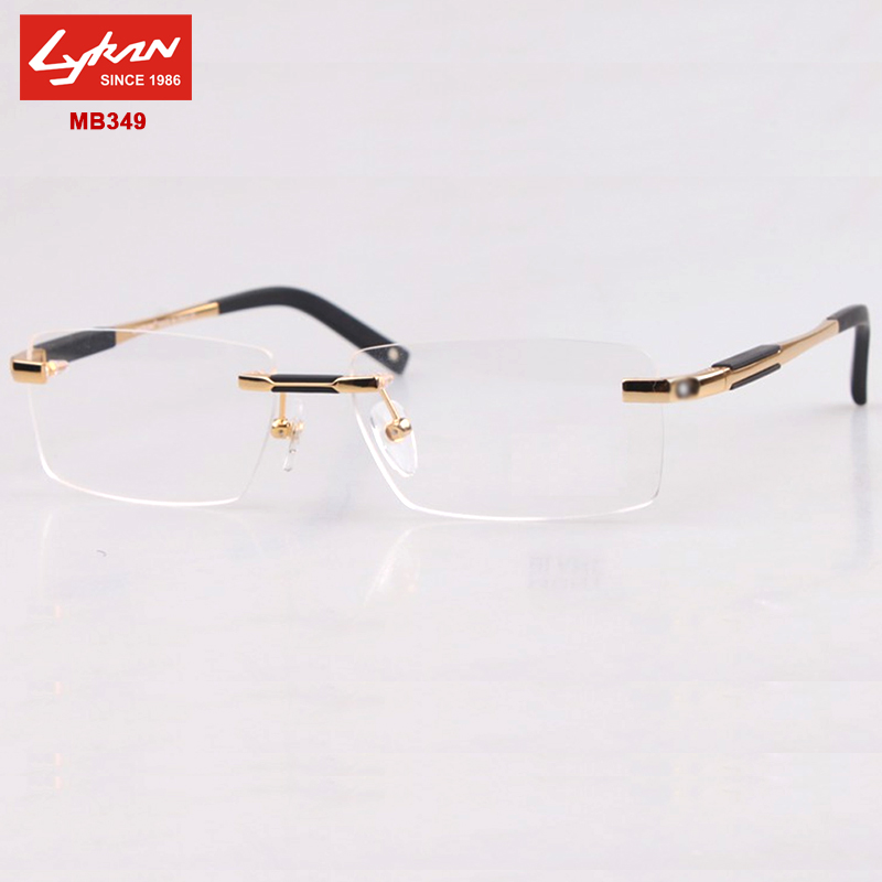 Eyeglass Frame Designers : Optical frame Men Brand 2015 rimless eyeglasses frames ...