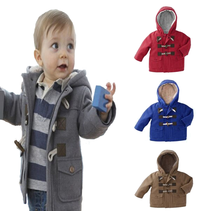 2015 New Baby Boys Jacket Clothes Winter Outerwear Coat Thick Kids Clothes Children Clothing With Hooded Retail Hot(China (Mainland))