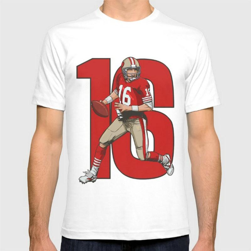 Joe montana 49ers New Fashion Lady girl T-shirts Short Sleeve Round collar Cotton women's t shirts(China (Mainland))
