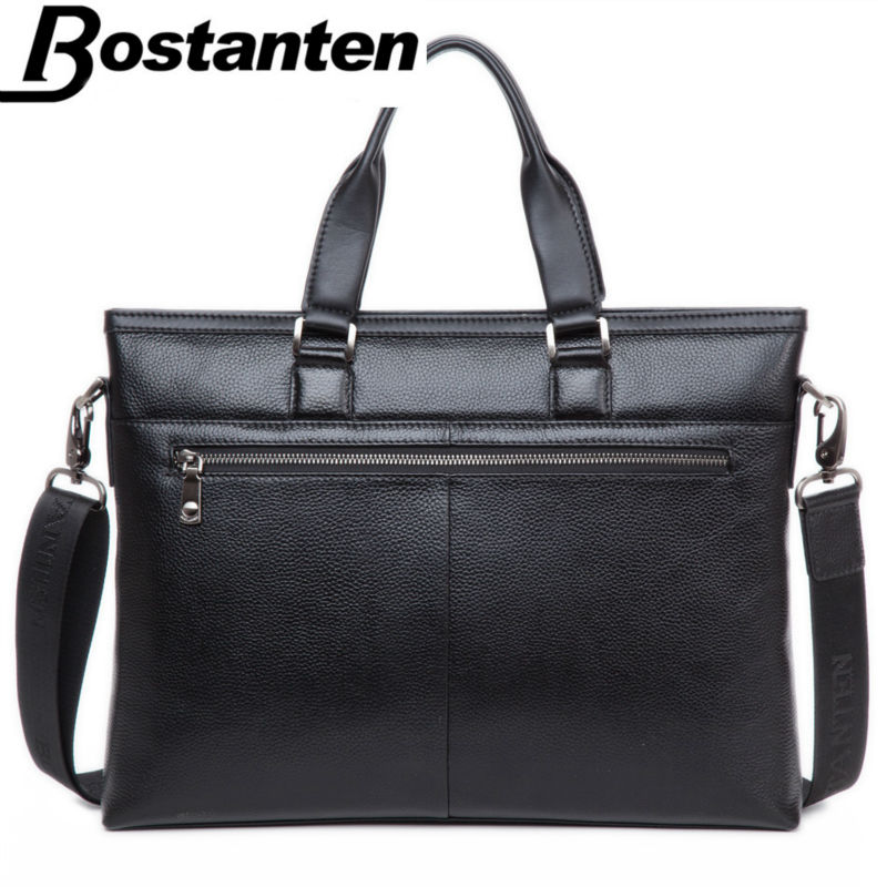 Bostanten Cow Leather Handbag Shoulder Purse Top-handle Tote Bag For