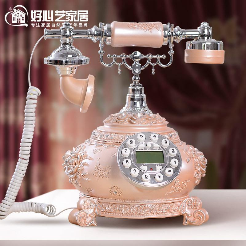 Nouveau téléphones antiques européenne fixe de téléphone fixe téléphone à la maison élégante Rose appel id vintage(China (Mainland))