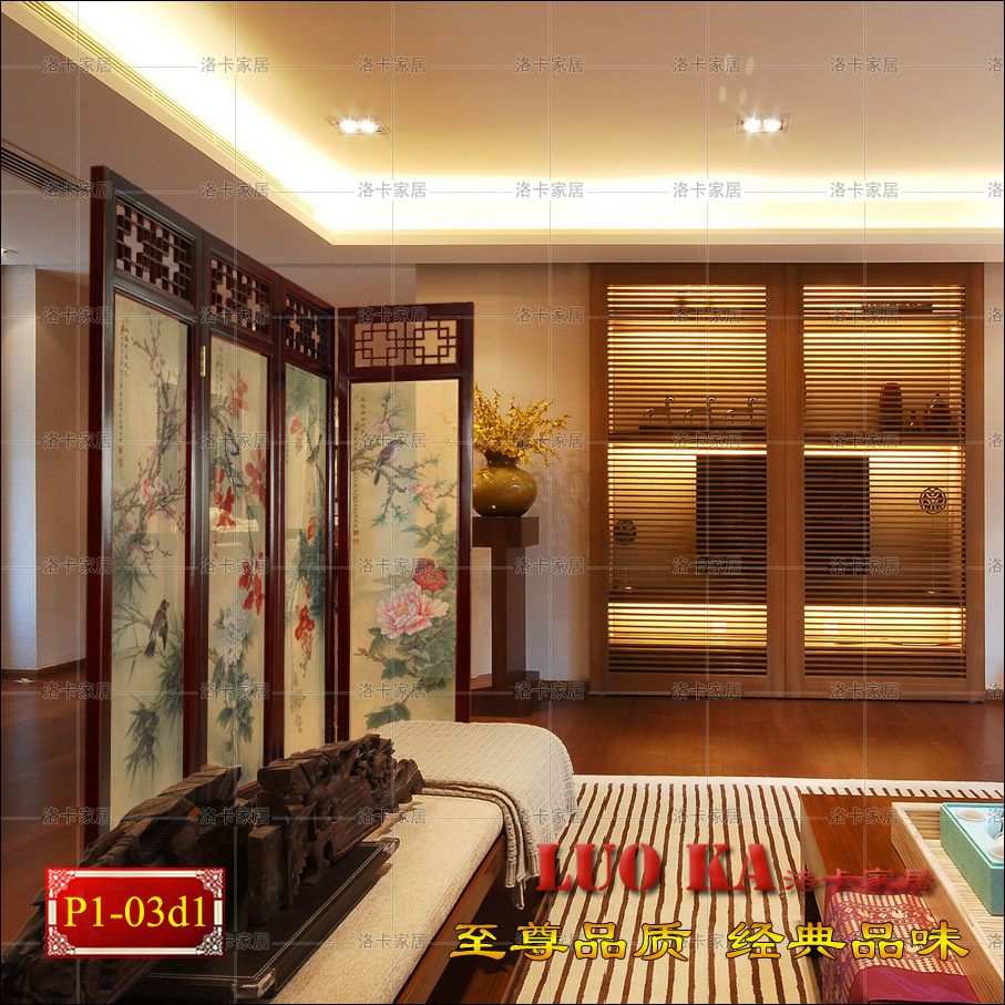 Chinese screen mysterious concept of feng shui living room hotel off the hollow wood seat folding screen high-end screen Crane h(China (Mainland))