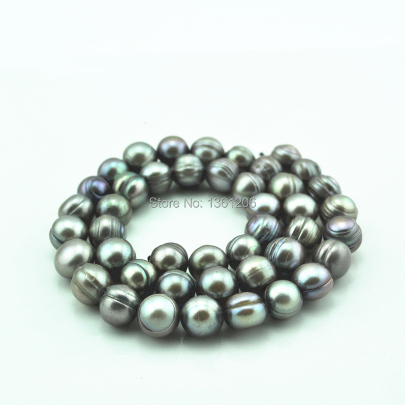 Grey Pearl Beads: Toonykelly AB2 Natural Grey Pearl Size Approx 8 MM