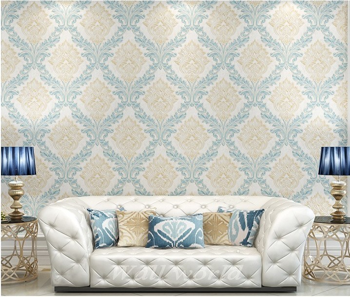 European style beautiful flowers non-woven wallpaper bedroom living room TV setting wall home wall world(China (Mainland))
