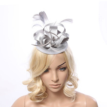 Feather Fascinator Bridal Hair Accessories Headdress Small Hat Hairpin Headdress Wedding Banquet Headwear