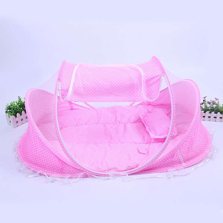 New Baby Crib Baby Bed With Pillow Mat Set washable Portable Foldable Crib Newborn Cotton Sleep Travel Bed toddler cot 0-2 Years<br><br>Aliexpress