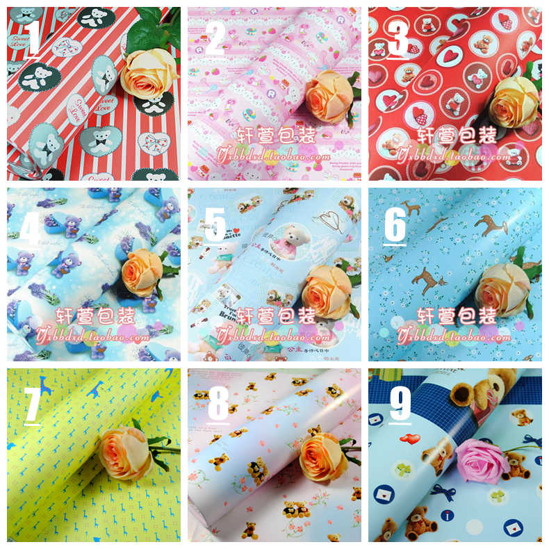 2016 HOT Sale 10pcs/lot Retro gift wrapping paper European wrapping paper gift wallpaper flower book gift packing(China (Mainland))