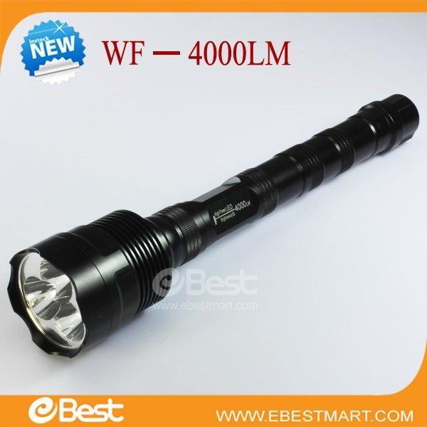 Free shipping 2012 hot sale 4000 Lumen CREE LED Flashlight LED Torch 3000mAh Battery Flashlight