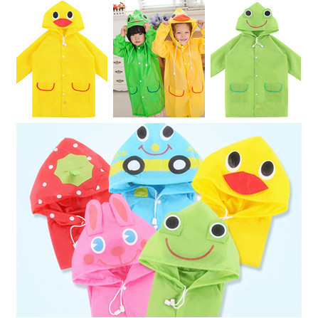 4 Styles Kids Rain Coat Children Raincoat /Rainwear,Kids Waterproof Animal Rain Suit(China (Mainland))