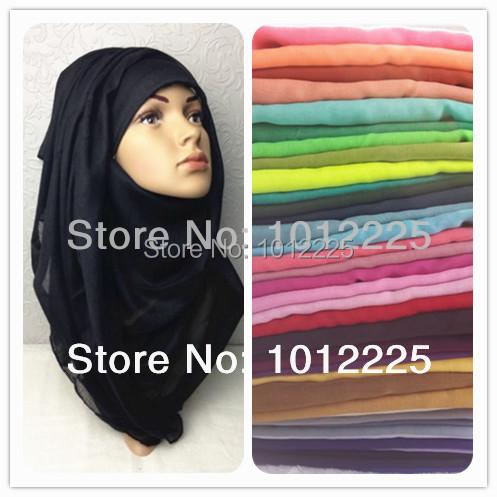 Hot Women Plain Maxi Hijab Shawl Fashion Soild muslim Scarf for ladies Soft Feeling viscose head scarf Free Shipping(China (Mainland))