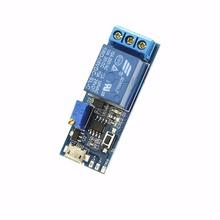 Precisa 5 v-30 v micro usb power relay módulo de control del temporizador de retardo de disparo switch-y102