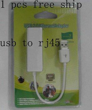 1pcs free ship, USB 2.0 Ethernet 10/100Mbps RJ45 Network Lan Adapter Card,  Fast Ethernet Adapter, rj45 to usb,USB Lan Card