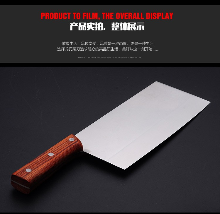 Buy Free Shipping LONG's Family Kitchen Stainless Steel Forged Slicing Knife Handmade Cutting Tool Chef Cleaver Cooked Food Knives cheap