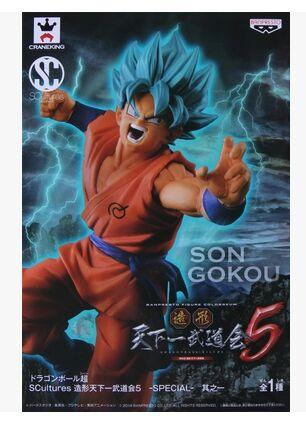 original banpresto blue hair goku dragon ball z kai figure toy SCultures Zoukei Tenkaichi Budoukai 5(China (Mainland))