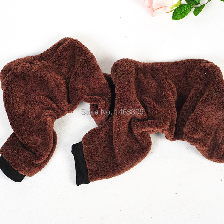 High Quality Pet Dog Shorts Flannel Puppy Pants Spring Brown Clothes for dogs Cute Small Dog clothing stain-resistant In Stock(China (Mainland))