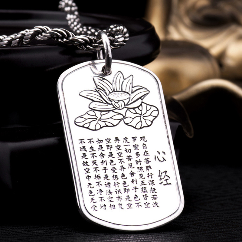 925 Sterling Silver Lotus Pendant S925 Solid Thai Silver Pendants 1 pieces bring Good Luck Pendant Men Jewelry HYP28(China (Mainland))