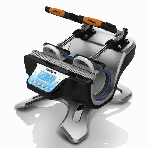 free shipping 3d heat press machine ST-210 Automatic 3D Sublimation Machine Mug press machine printing machine for mug(China (Mainland))