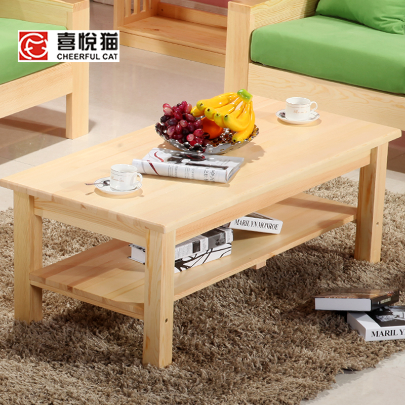 Solid Wood Furniture Tea Tables And Chairs Combination Living Room Coffee Tab
