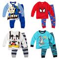 cartoon Thomas boys clothing sets kids clothes pajamas baby knitted printed pyjama sets toddler clothes suits