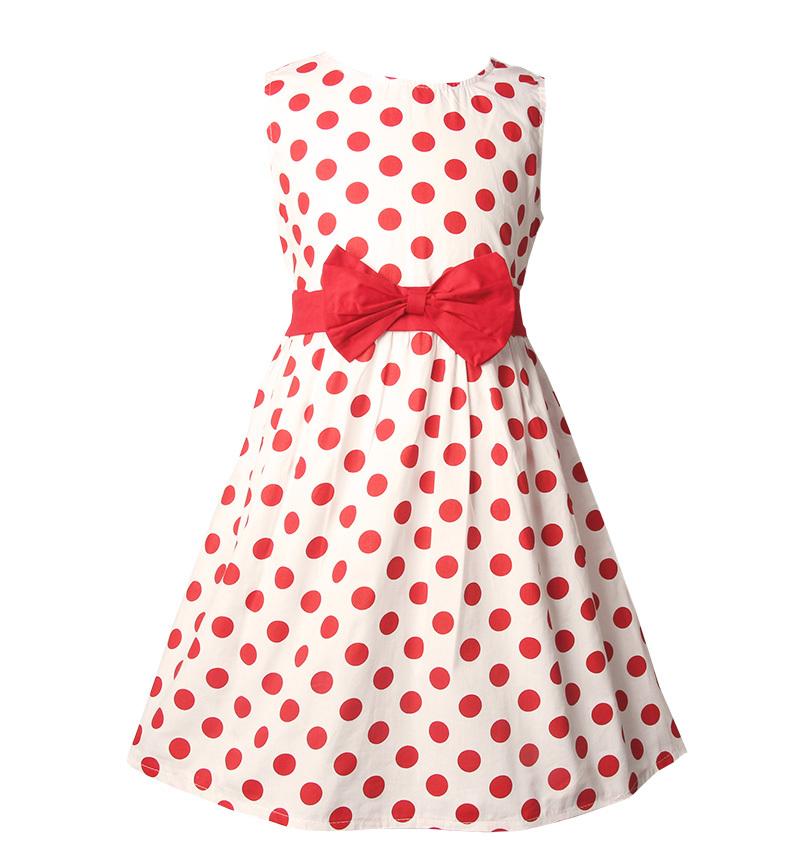2015 Flower Poplin Girls Dress 4 to 13Y Casual Hot Summer Dress for Girls(China (Mainland))