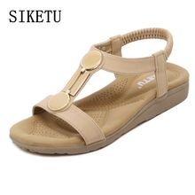 Buy 2017 summer new women's sandals casual comfortable flat-bottomed women sandals large size non-slip soft sand beach sandals 35 40 for $16.65 in AliExpress store