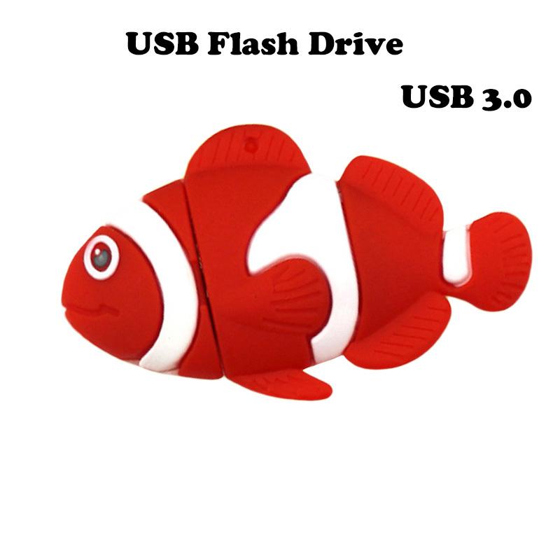 Fast Speed USB 3.0 Fish USB Flash Drive Pen Drive 4g 8g 16g 32g 64g Pendrive External Storage Memory Stick U Disk H2testw Test<br><br>Aliexpress