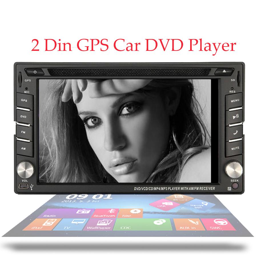 Car Stereo Headunit 2 Din Radio Car DVD Player Wince 8.0 UI In Dash GPS Navigation 6.2 inch Digital Touch Screen Bluetooth FM/AM(China (Mainland))