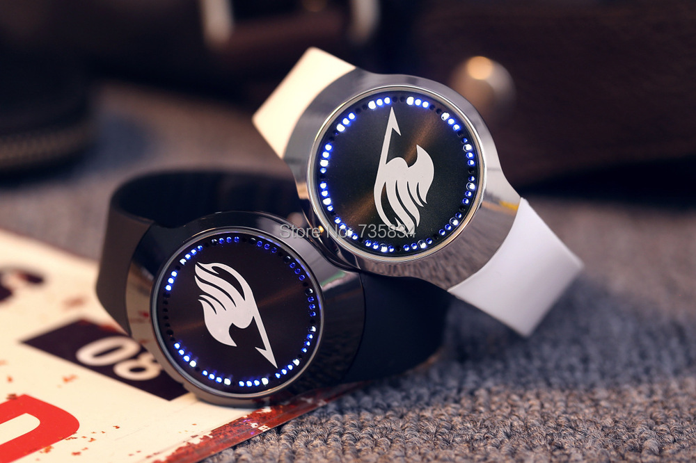 2013 New Led Watch Fashion Sports Blue Light Led Touch Screen Leather Band Watches LT007<br>