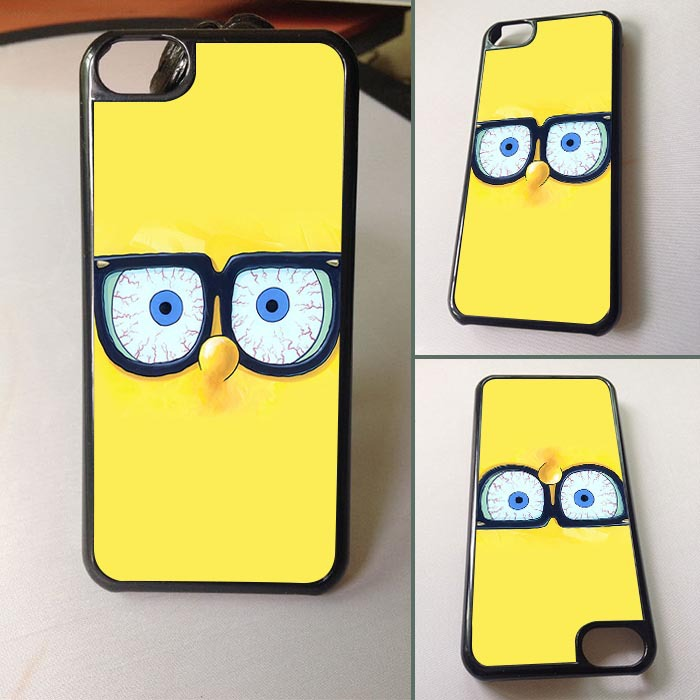New arrival Cartoon Sponge SquarePants Plastic Case Cover for iphone 5C cases(China (Mainland))