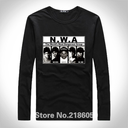 N.W.A NWA Men's T-Shirt The World's Most Dangerous Group Print Designs Tops Tees Adults 100% Cotton T Shirts Euro Size(China (Mainland))