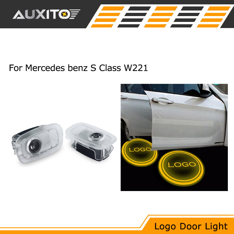 2x Ghost LED Door Step Courtesy Laser Shadow Light For Mercedes Benz S CLASS W221 AMG S500 S350 S63 S65(China (Mainland))