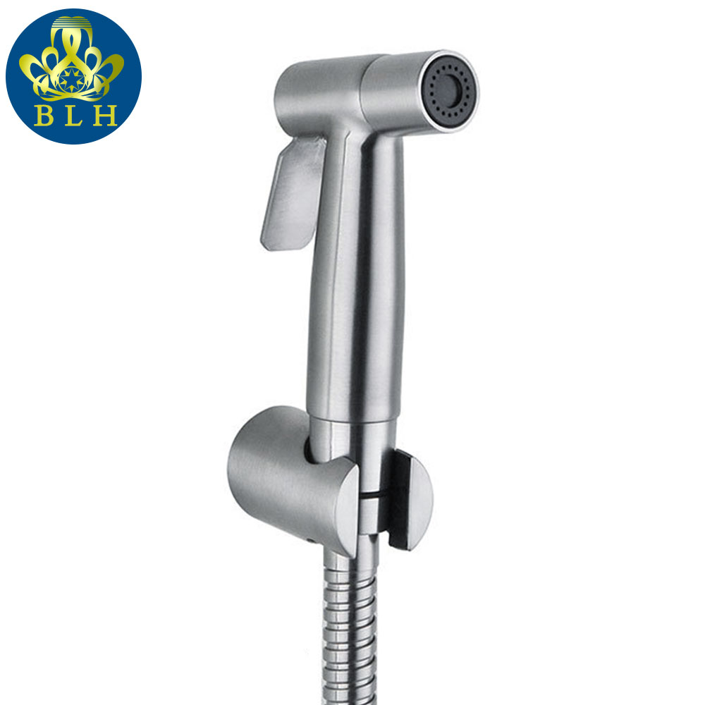 BS565 Wc Bidet Shower Set 3pcs Set Toilet Shower Bidet Wc Hogedrukspuit Bidet Sprayer 304 Stainless Steel with Hose & Holder(China (Mainland))