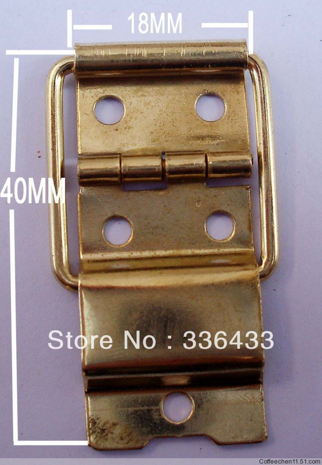 Packing box parts, wire hinges, wine boxes, wooden hinges 18 * 40 mm yellow trumpet(China (Mainland))