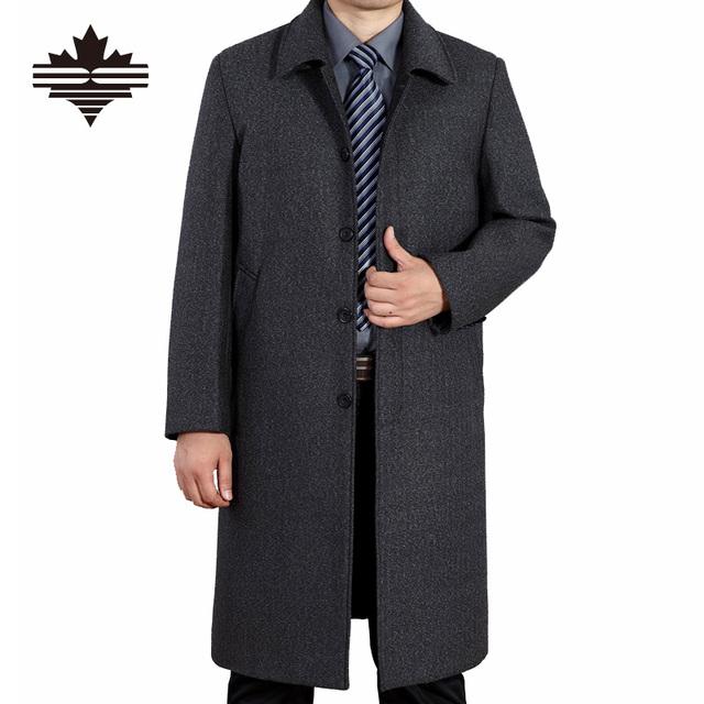 Мужчины Зимние Куртки Шерсть Британский Стиль Мужчины Больше Разделе Шерстяные Пальто ...