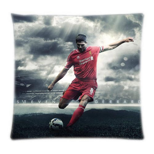 Steven Gerrard in Premier League Liverpool Football Club Warm&Cherish Cushion Cover Two Sides Printed Four Sizes(China (Mainland))